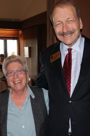 Chancellor Blumenthal with Professor Bettina Aptheker
