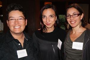 Professors Marcia Ochoa, Neda Atanasoski, and Felicity Amaya Schaeffer