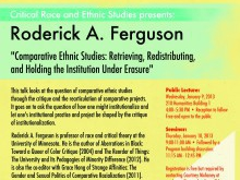 Roderick A. Ferguson: Comparative Ethnic Studies