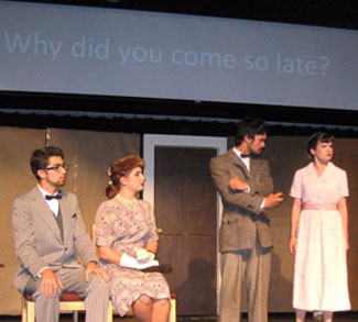 A scene from a past performance of UCSC's International Playhouse.