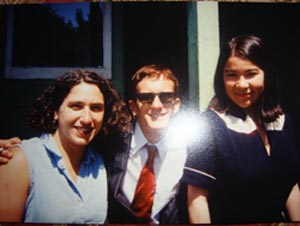 Brenda Shaughnessy (right) shown as a student at UC Santa Cruz in the early 90's.