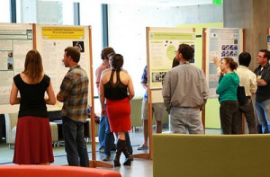 Dozens of graduate students presented their research at the Graduate Research Symposium. Photo by Carolyn Lagattuta.