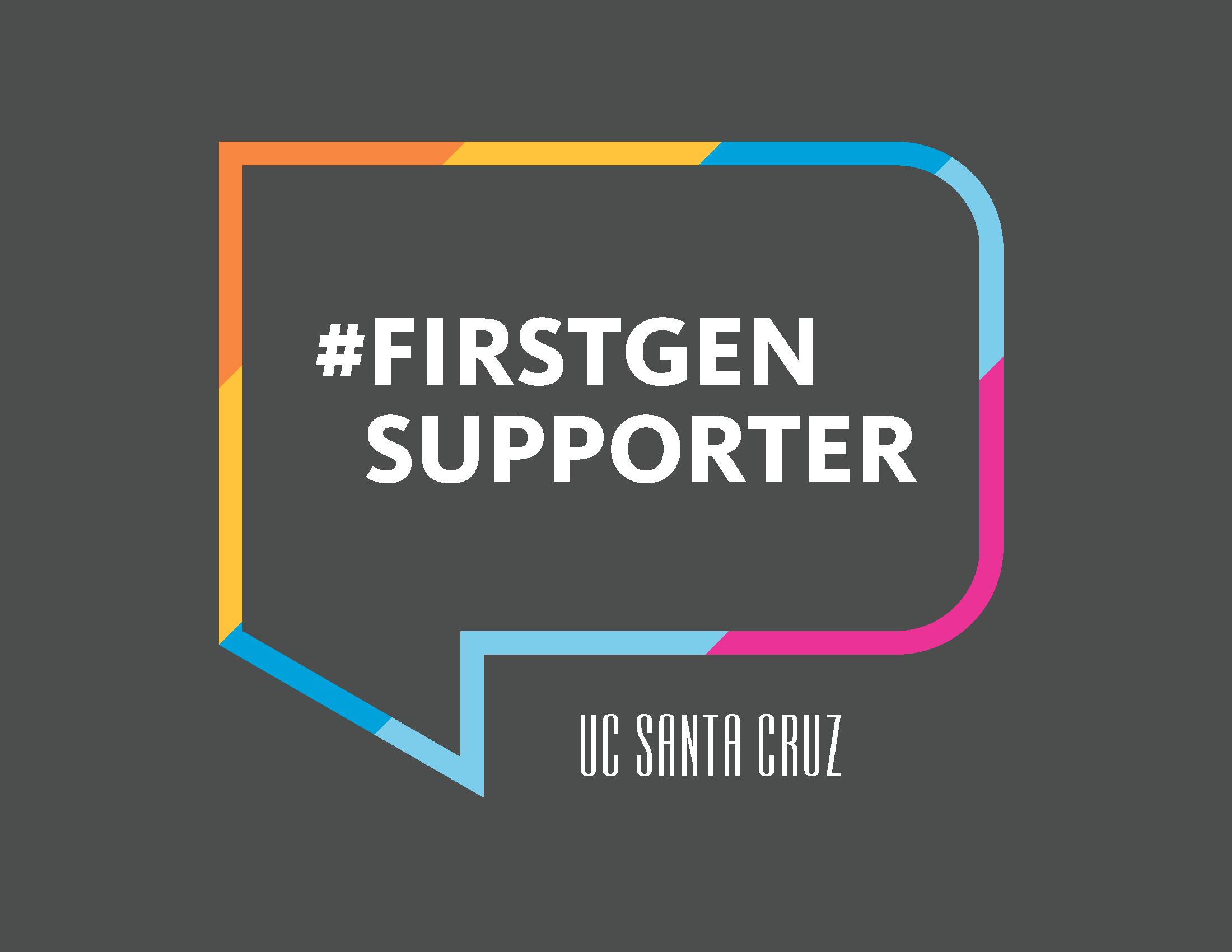 #FirstGenSupporter logo