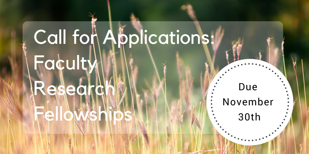 Call for Applications Faculty Research Fellowships