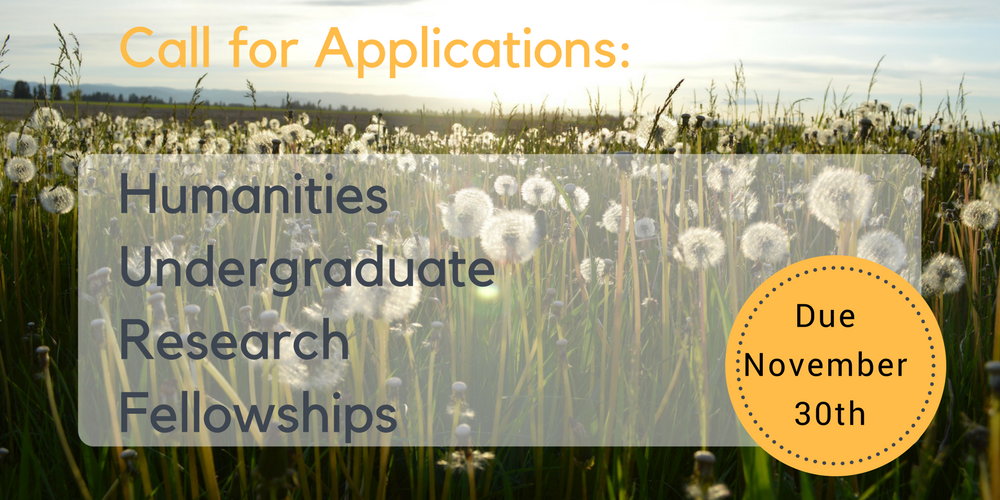 Call for Applications Undergrad Research Fellowships