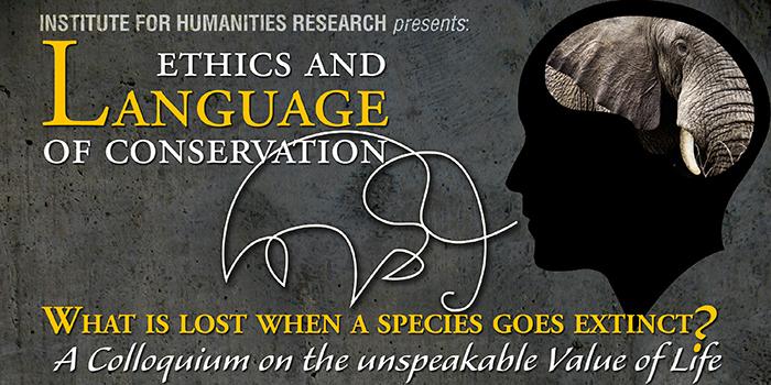 Ethics and Language of Conservation Colloquium web banner
