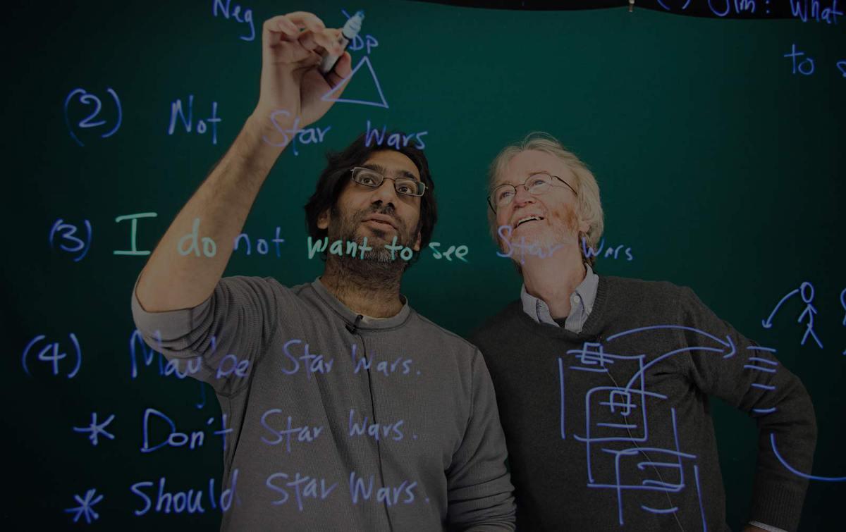 Linguistics Professors Jim McCloskey and Pranav Anand