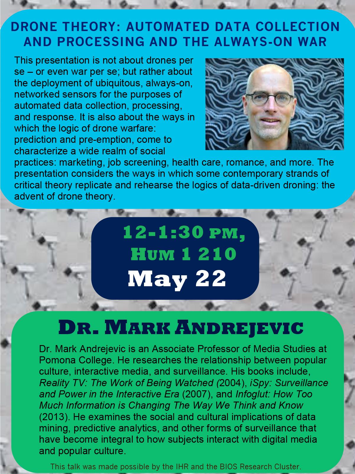 Mark Andrejevic Drone Theory