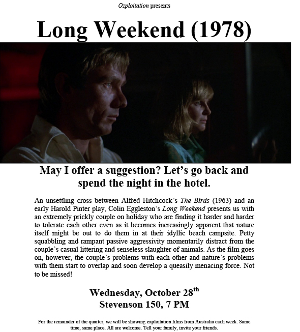 Long Weekend Film Screening Flyer