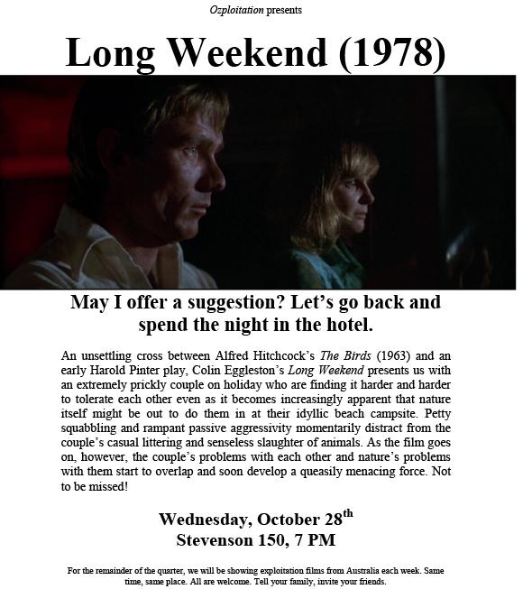 Long Weekend Film Screening Flyer