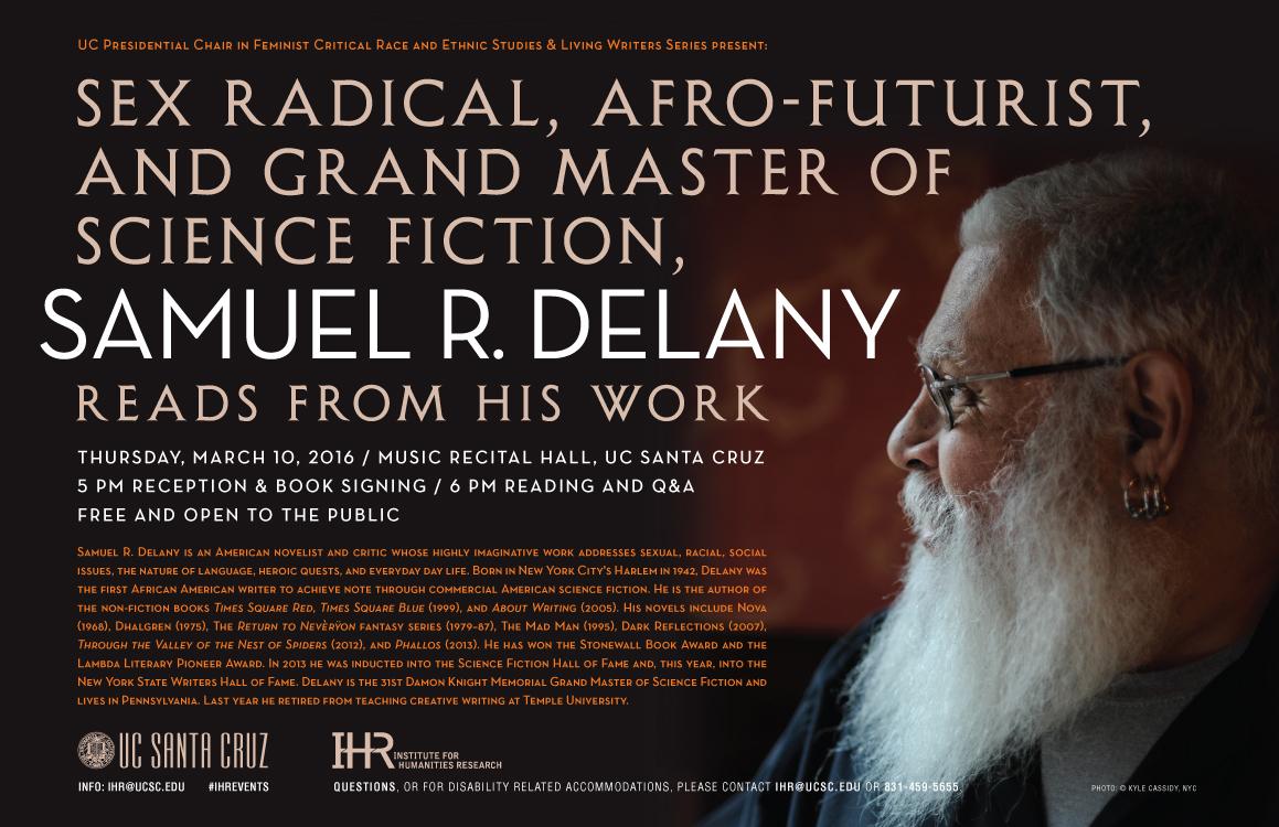 Samuel Delany event poster