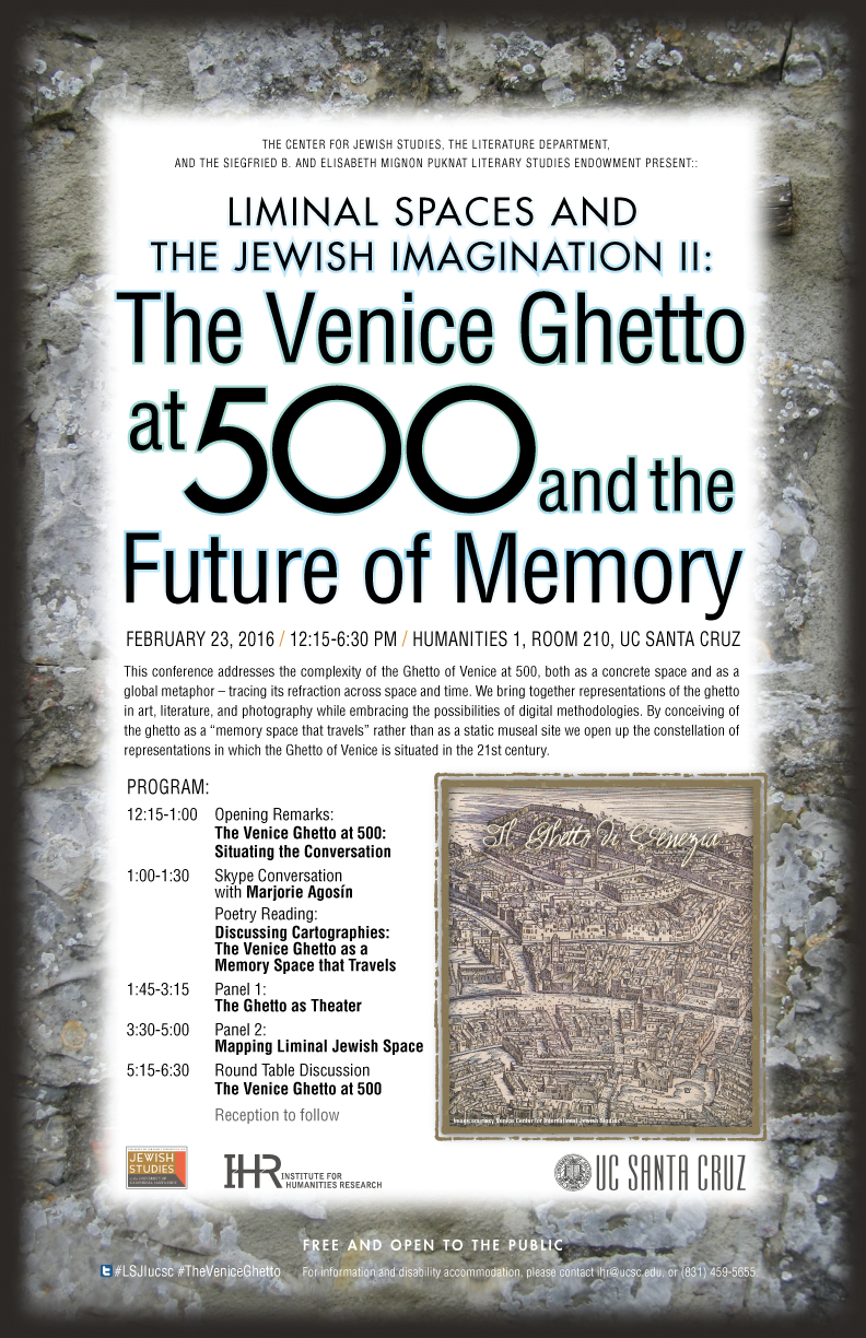 Poster for Liminal Spaces and the Venice Ghetto at 500