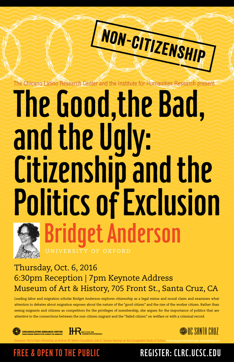 Bridget Anderson event poster