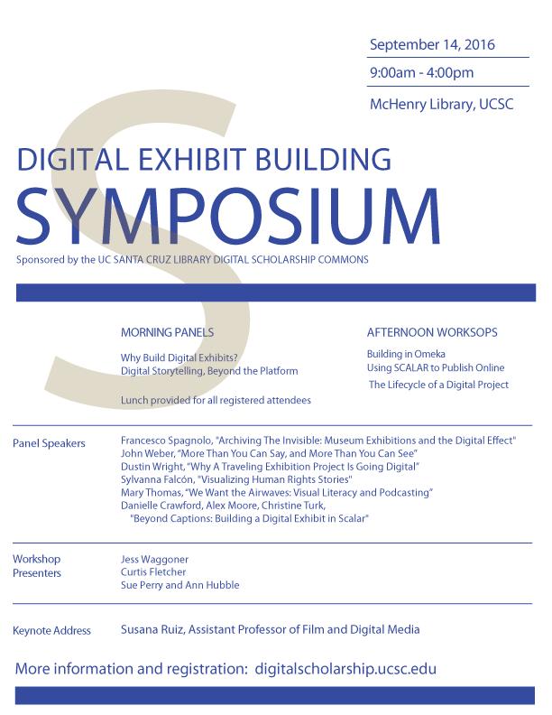 Digital Exhibit Symposium Flyer