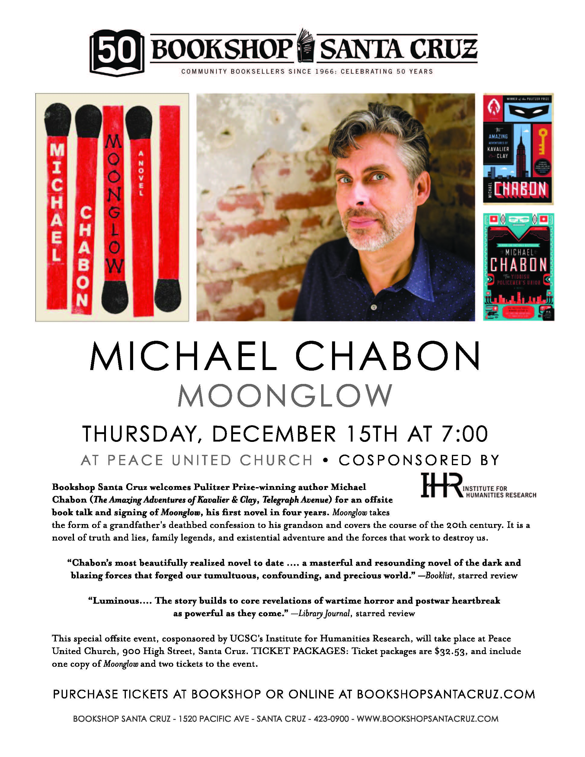 michael chabon event flyer