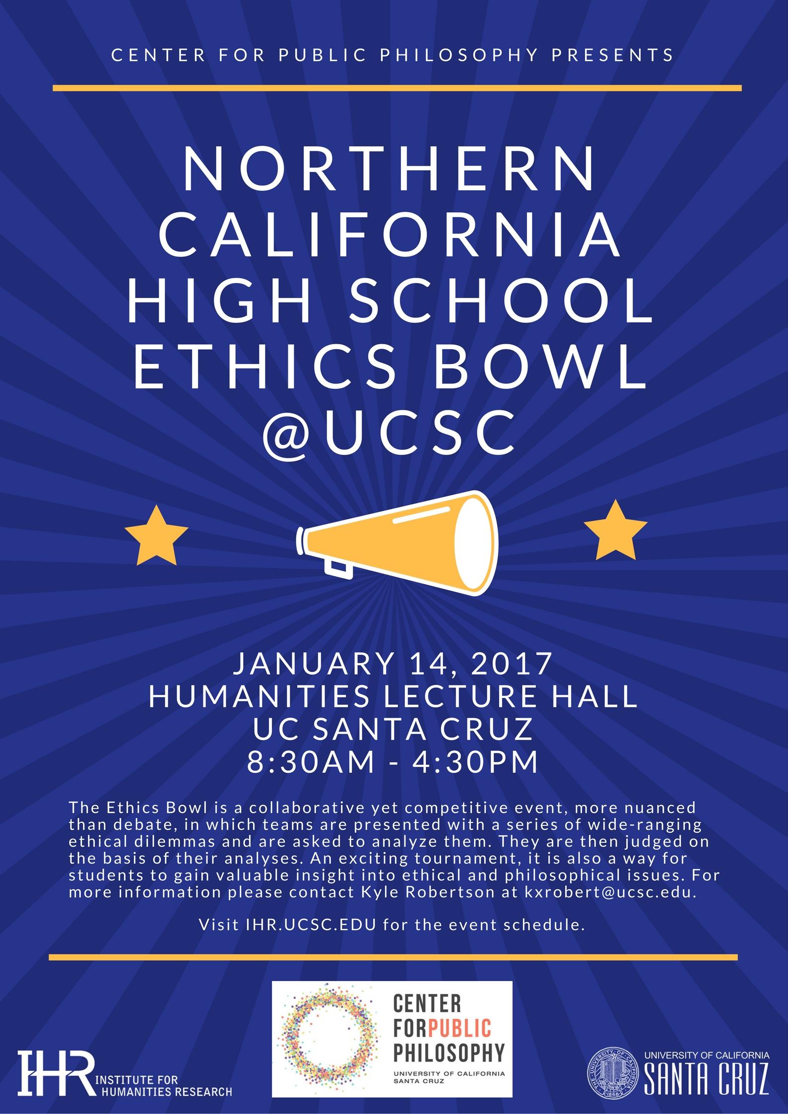 High School Ethics Bowl flyer 2017