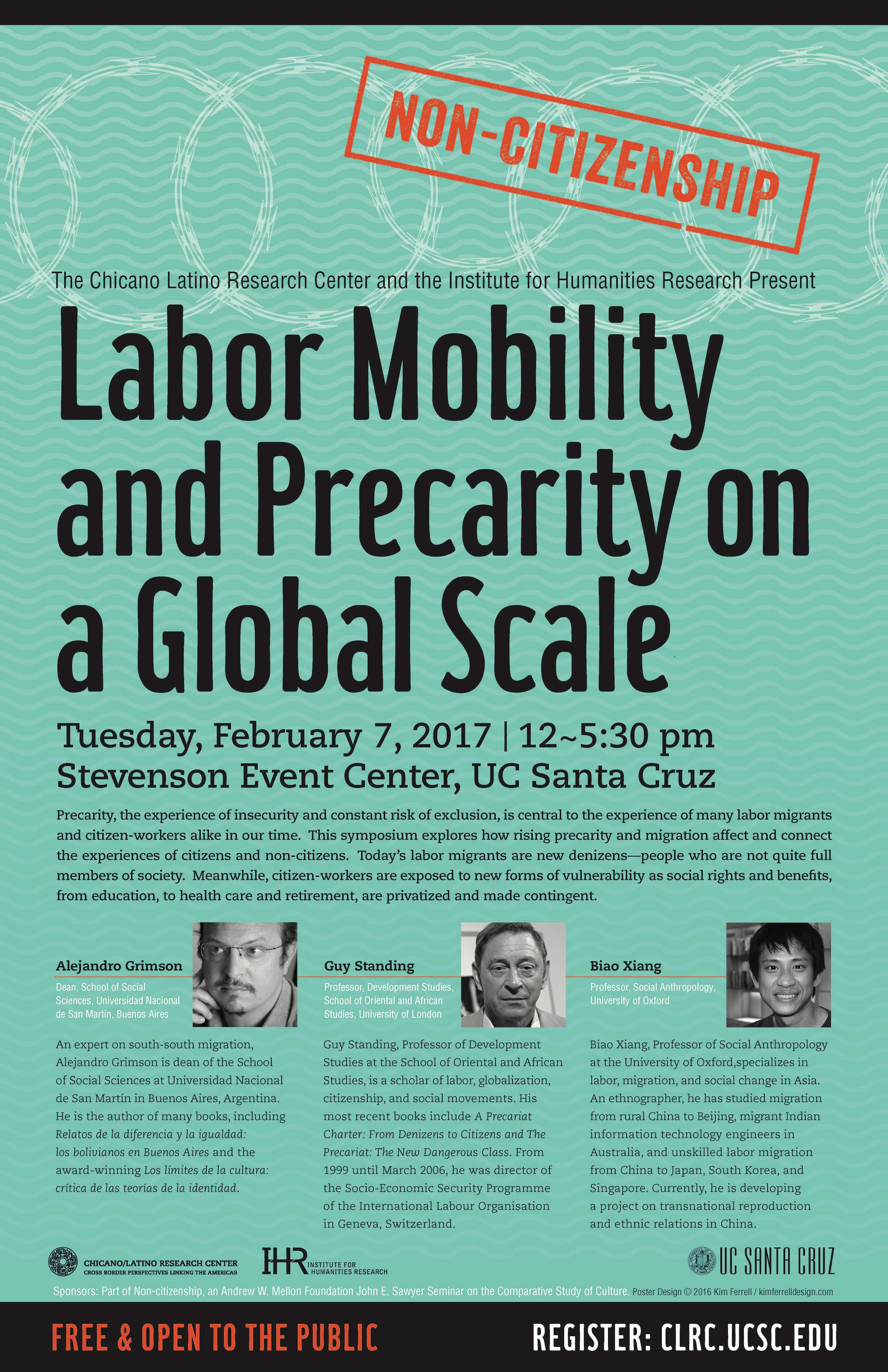 Labor Mobility Precarity event poster