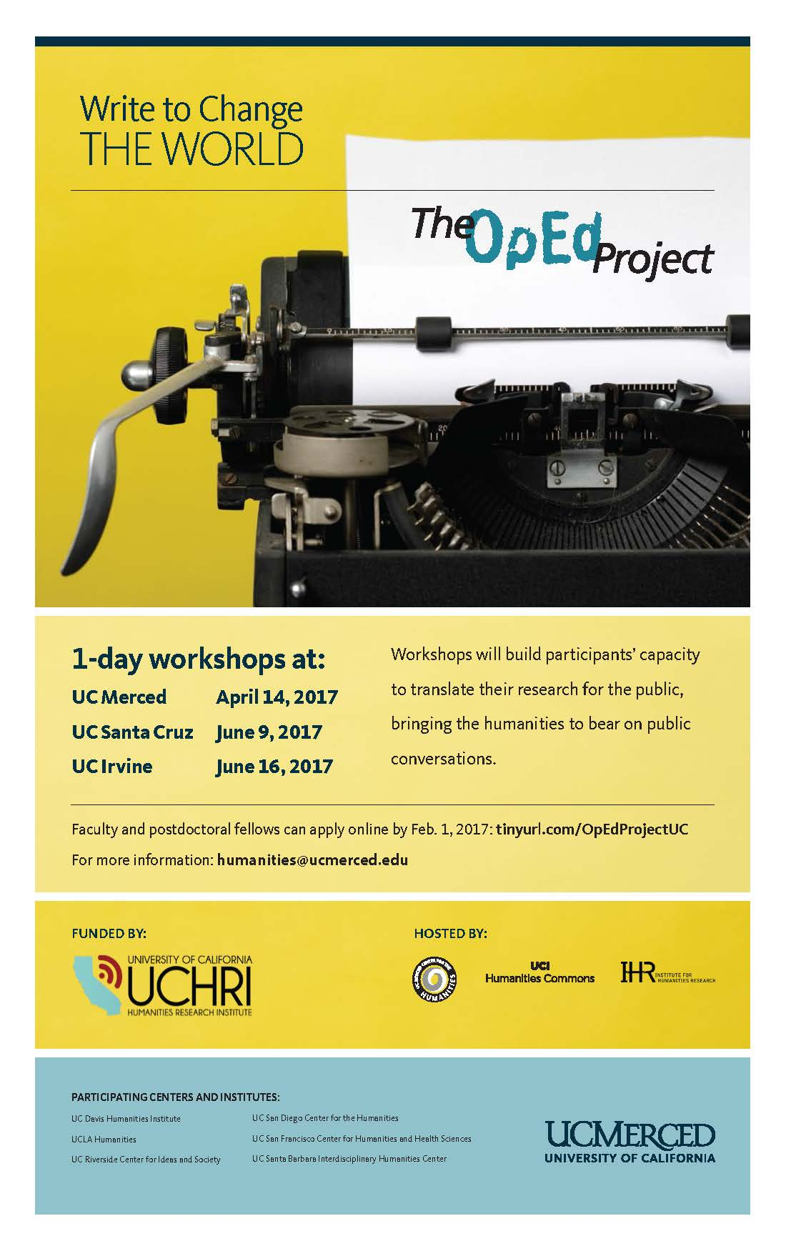 The OpEd Project 2017 workshop poster