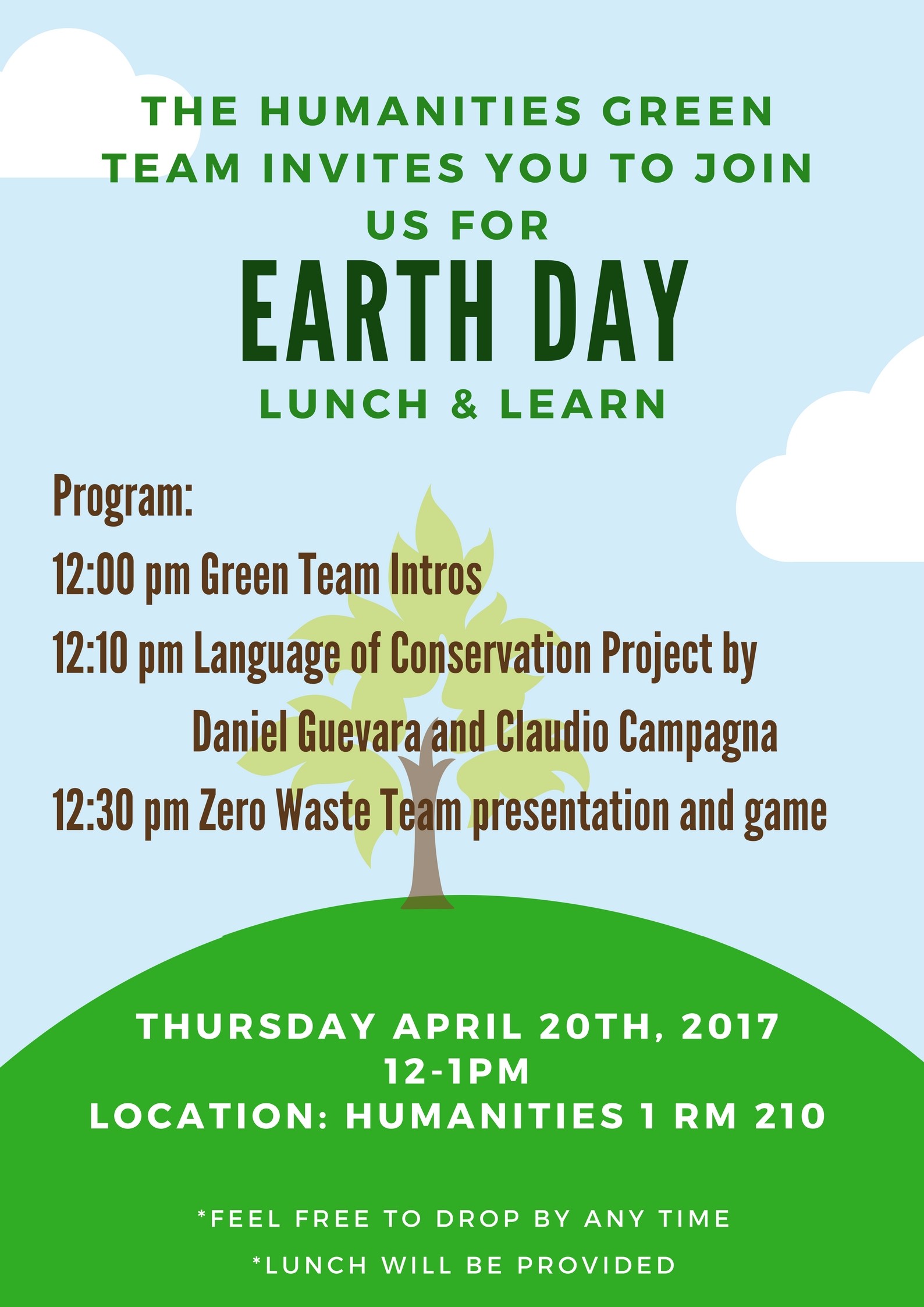 Humanities Earth Day Flyer