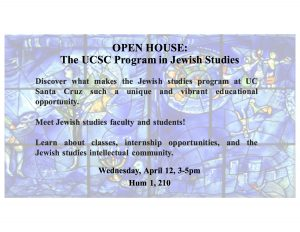Jewish Studies Open House April 12