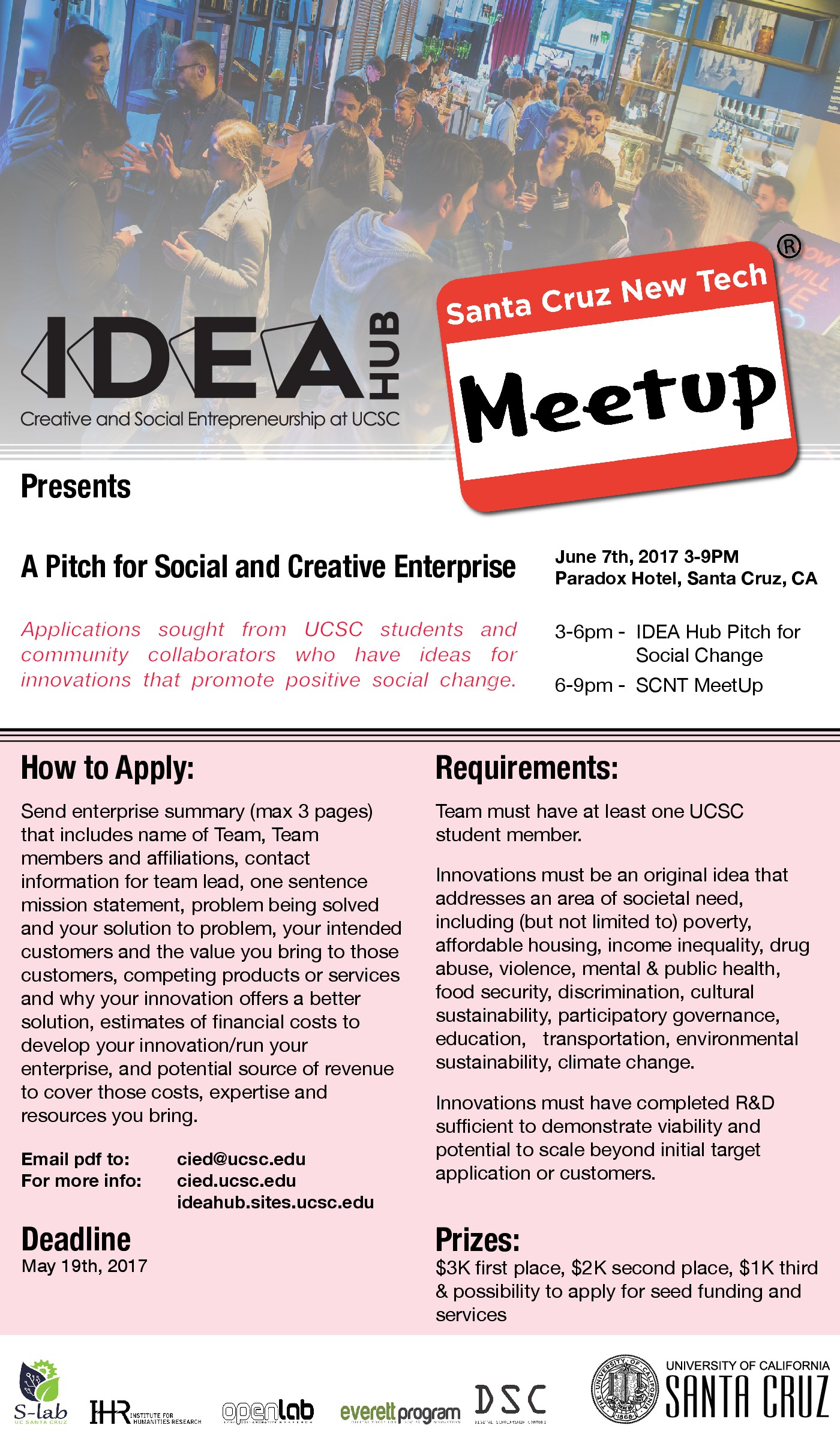 IDEA Hub: A Pitch for Social and Creative Enterprise - The