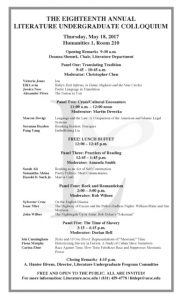 Eighteenth Annual Literature Undergraduate Colloquium
