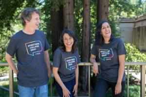 Three first generation college graduates