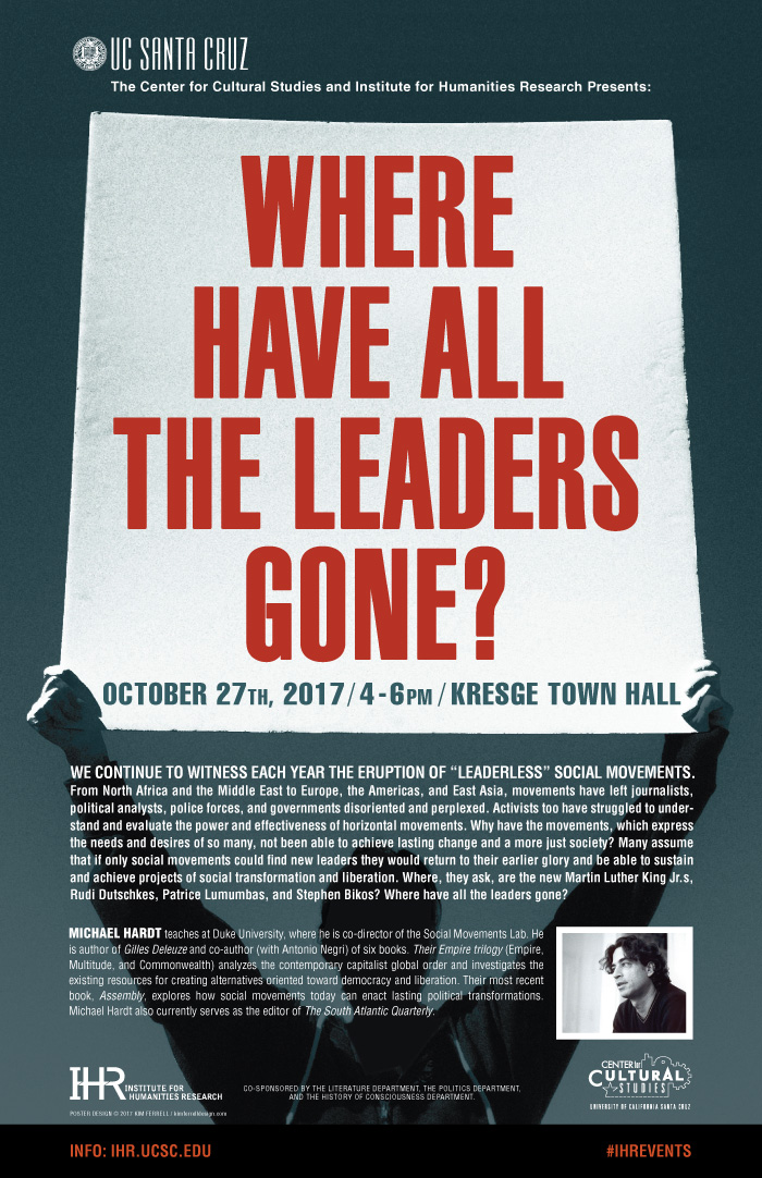 Where have all the leaders gone - October 17 4pm Kresge Town Hall