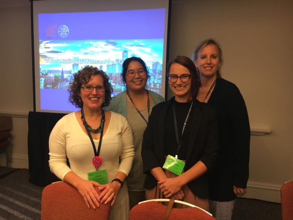 from left to right, Sarah Papazoglakis, Kara Hisatake, Kendra Dority, Julie Fry are shown.